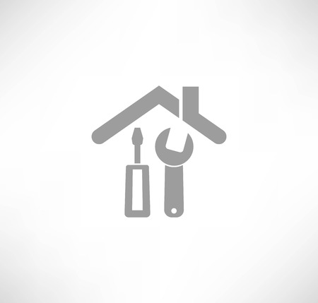 inspecting: Home repair icon Illustration