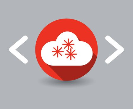 snowfall icon Vector