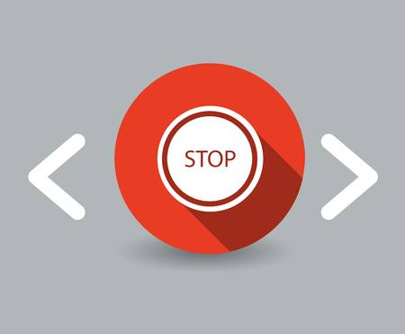stop icon Stock Vector - 22798349