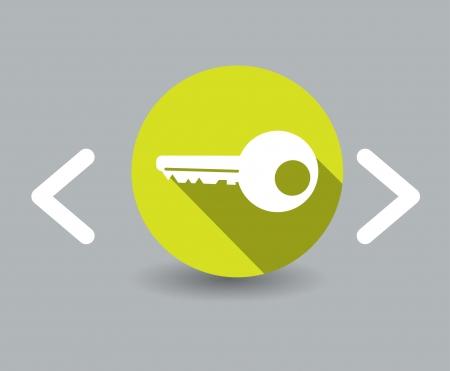 modern: key icon