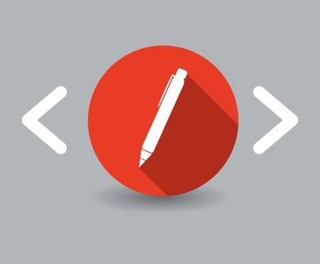 pen-pictogram Stock Illustratie