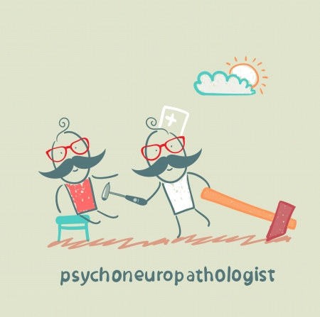 psychoneuropathologist  check the patients nerves Stock Photo