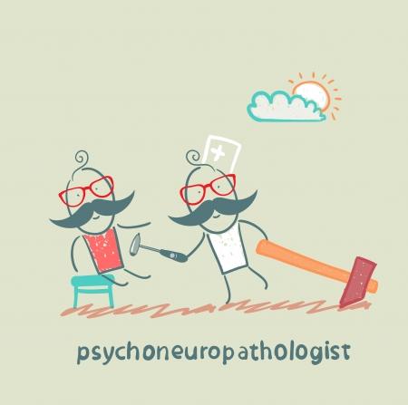 patients: psychoneuropathologist  check the patients nerves Stock Photo