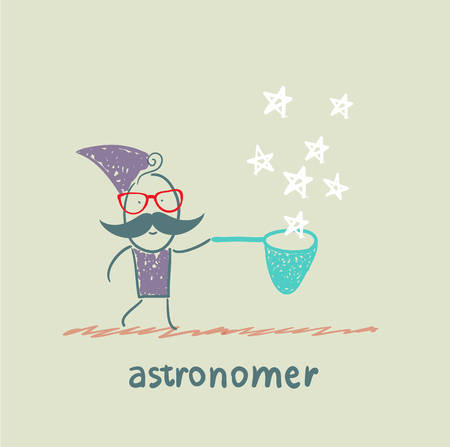 astronomer: astronomer collects stars