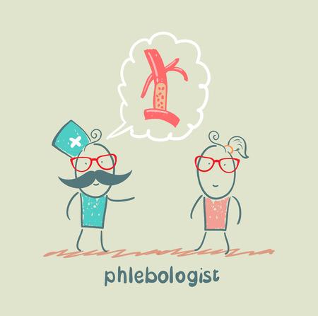 phlebologist says veins patient