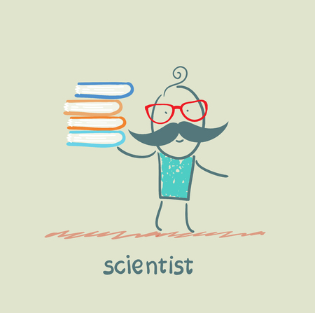 scientist holding a book Stock Photo - 22921228