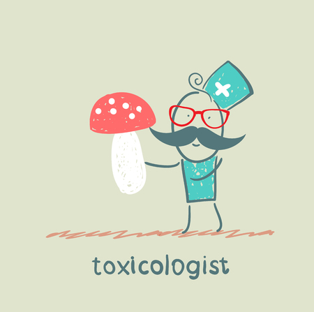 Toxicologist keeps fungus photo