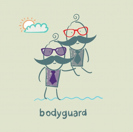 carries: Bodyguard carries a businessman