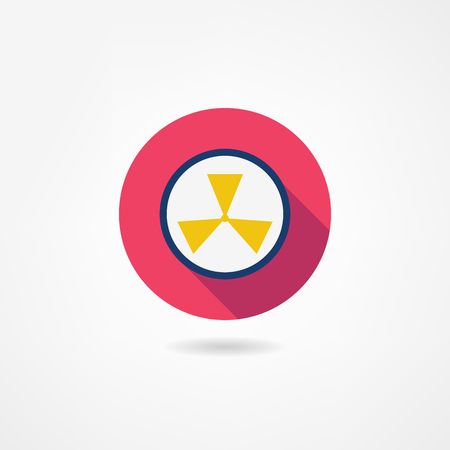 poison sign: radiation icon