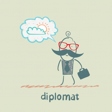 diplomat dreaming of sunshine Stock Vector - 23068137