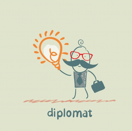 diplomat with a good idea Stock Vector - 23068139