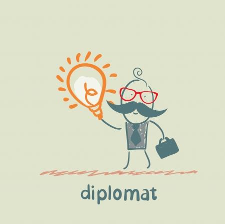 diplomat with a good idea Stock Vector - 23068139