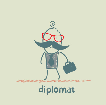 diplomat goes to work Stock Vector - 23068140