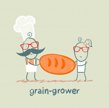 grower: grain grower keeps the bread with the cook