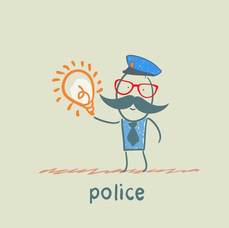 keeps: Police keeps the idea Illustration