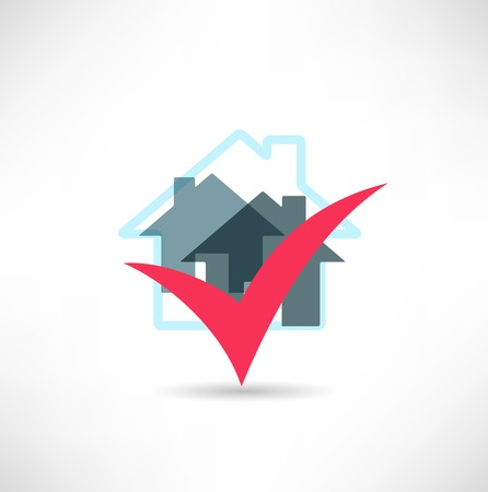 Home and checkbox Vector