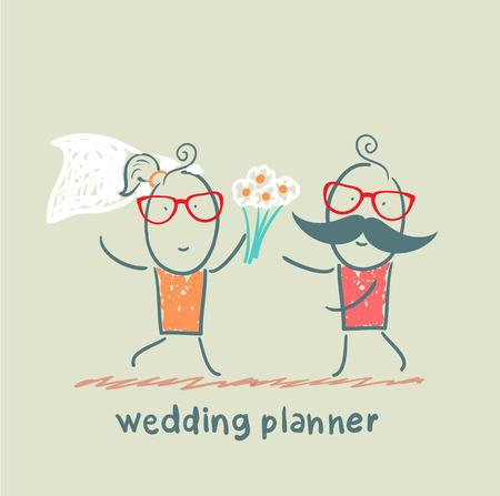 weddingplanner met de bruid