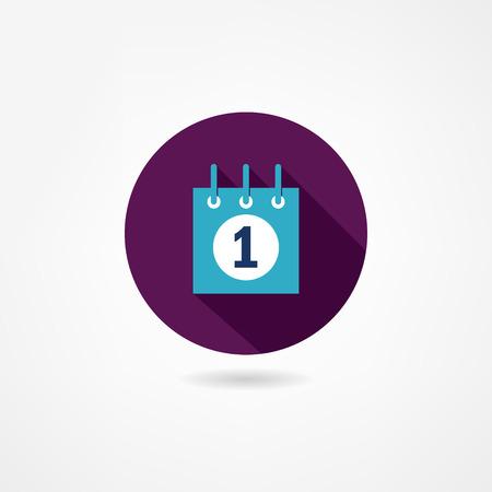 calendario escolar: icono de calendario Vectores