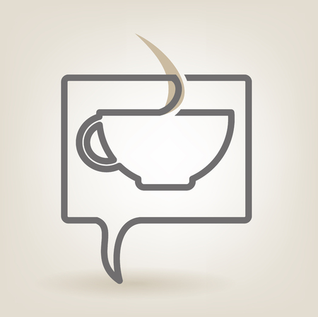 Speech bubble with coffee Stock Vector - 23110285