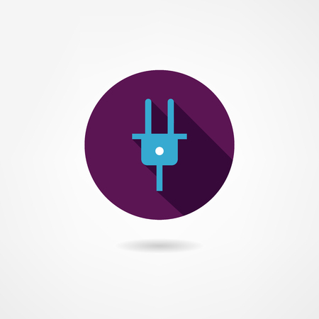 network connection plug: fork icon Illustration