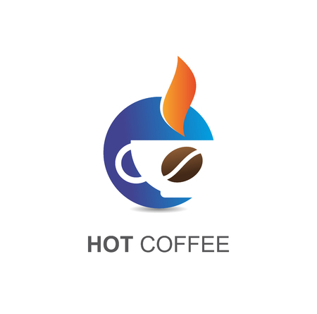 Hot coffee symbol Illustration