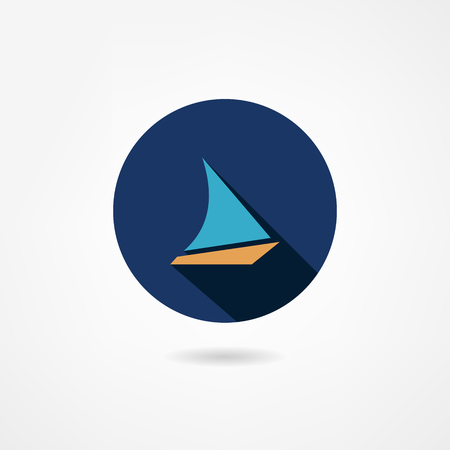yacht icon Stock Vector - 23110591
