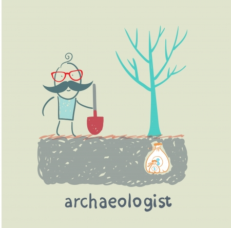 buried: archaeologist is the place where the money is buried