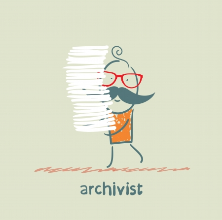 stack of files: archivist is a stack of files