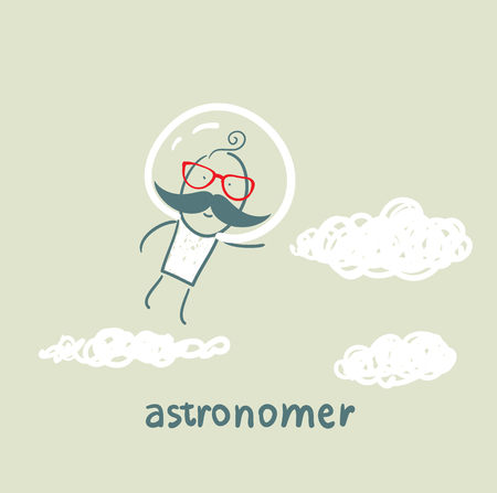 astronomer: astronomer flies in the stars
