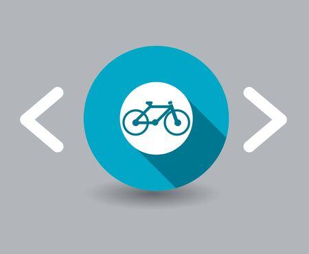 bike icons Ilustrace
