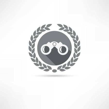 binoculars icon Stock Vector - 23709034