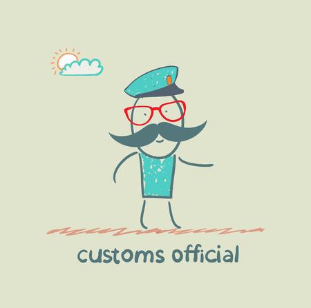 aduana: funcionario de aduanas se va a trabajar Vectores