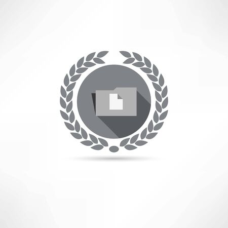 file transfer: folder with documents icon