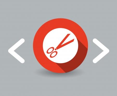 scissors icon Фото со стока - 23708703