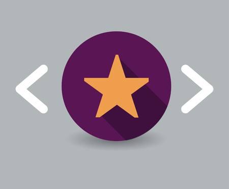 star award: star icon Illustration