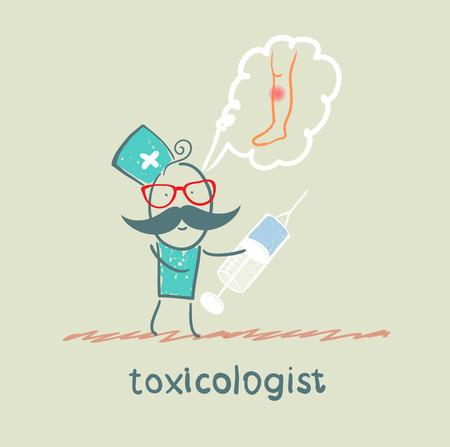 said: toxicologist said the poison and keeps syringe Illustration