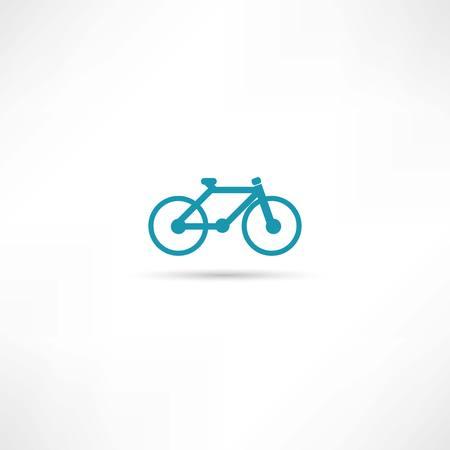 bicycling: bike icons Illustration