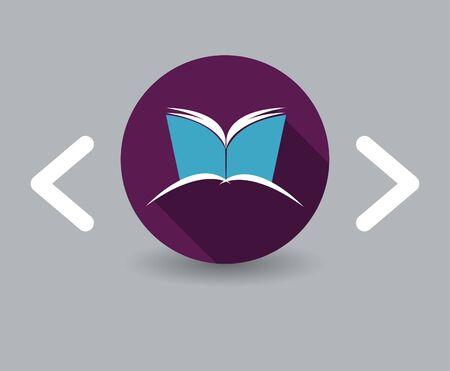 literature: books icon Illustration