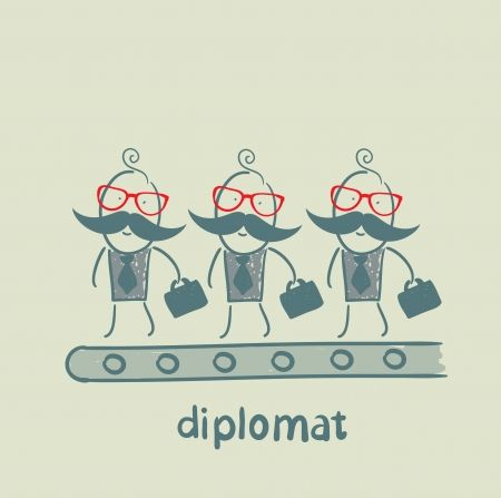 diplomats are on the line Vector