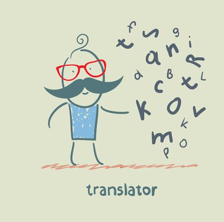 multilingual: translator is thinking about letters