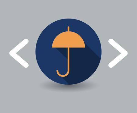 umbrella icon Stock Vector - 23703219
