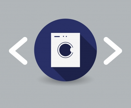 washing machine icon Illustration