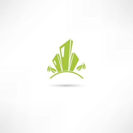 building: eco city icons Illustration