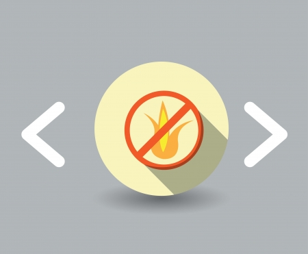 flammable icon Illustration