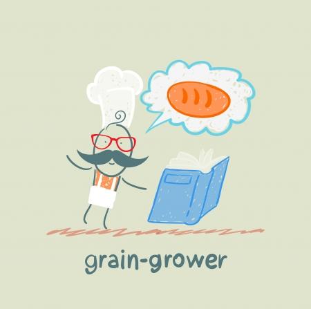 grain grower reads bread recipe