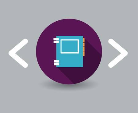 directorio telefonico: icono de libreta de tel�fonos Vectores