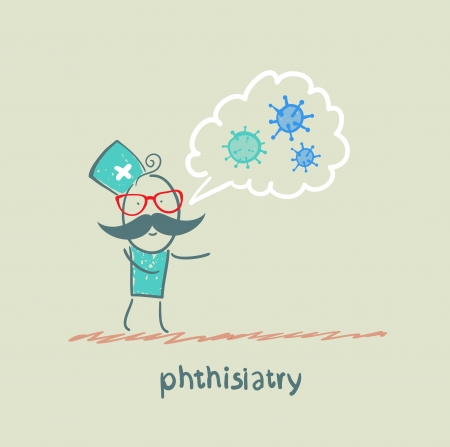 phthisiatry speaks about bacteria Stock Vector - 23712712