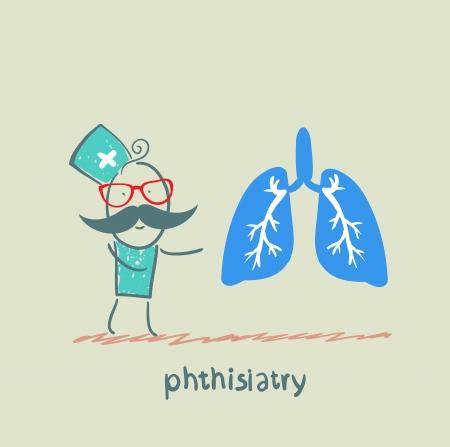 alveolos pulmonares: phthisiatry dice el pulmón humano Vectores