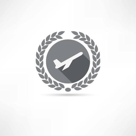 flight steward: plane icon Illustration