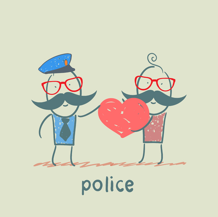 federal police: Police listen to a man in love